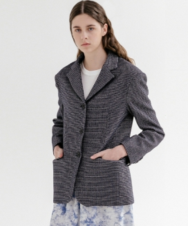 [ADDSENSE] TWEED SINGLE JACKET