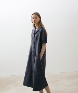 [NONLOCAL] Linen Bouton Dress