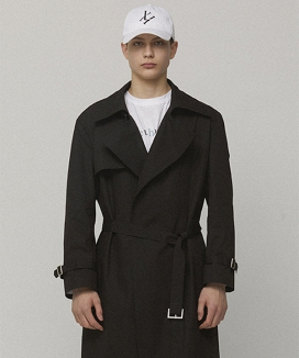 [LIEU HOMME] BUTTON LESS LONG TRENCH COAT