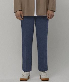 [LIEU HOMME] BANDING DENIM SLACKS
