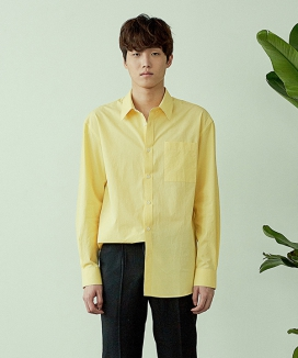 [ARTENO STUDIO] COTTON NATURAL SOLID SHIRT