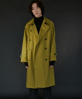 [WUZU STUDIO] WUZU OVER LONG TRENCH COAT
