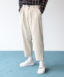 [NEW:KIT] GRACIOUS LIFE TAPERED BANDING SLACKS