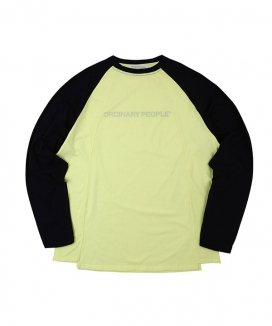 [ORDINARY PEOPLE] cutting detail raglan sleeve t-shirt