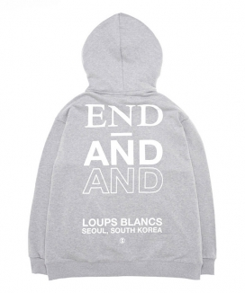 [LOUPS BLANCS] Half Zip-Up HOOD