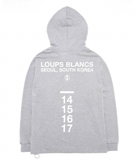 [LOUPS BLANCS] Side Zipper HOOD