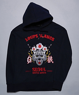 [LOUPS BLANCS] Embroidery Woolf SEOUL HOOD