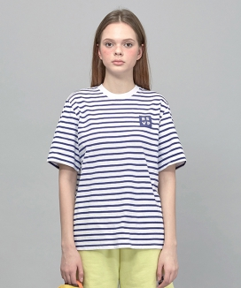 [RSVP] BOX LOGO STRIPE T SHIRT