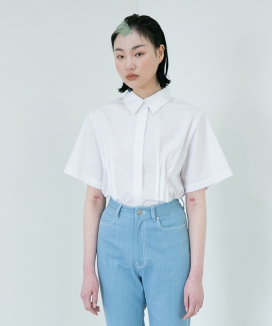 [RA VIDE] STITCH CROP SHIRT
