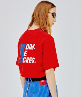 [DIM.E CRES.] DMCRS boarding graphic T-shirts