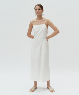[DIAGONAL] SLIT BANDING DRESS