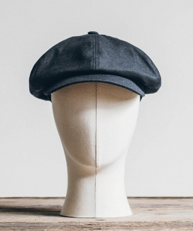 [WILD BRICKS] LINEN-COTTON NEWSBOY CAP