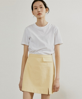 [38comeoncommon] 19SR COTTON FLAP SKIRT