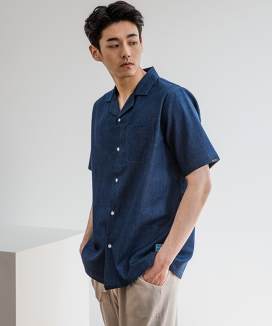 [PRAIRIE] DENIM OVER-FIT 1/2 SHIRTS