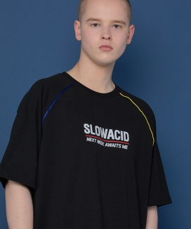 [SLOWACID] Raglan Piping Short-T