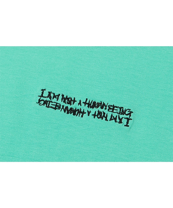 [iam not a humanbeing] Embroidery Front Tee