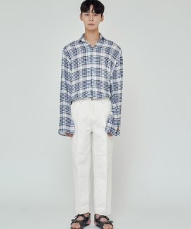 [TRIP LE SENS] ECRU CREAM WIDE PANTS