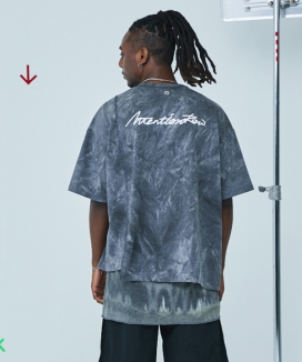 [ATTENTIONROW] Flowing Water Washing Overfit T-Shirt (6 color)