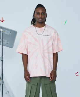 [ATTENTIONROW] One-line Overfit Tiedye T-Shirt (3 color)
