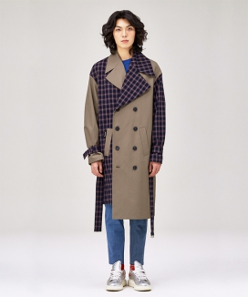 [LUVur] Unbalanced Trench coat