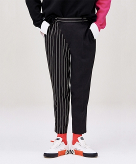 [LUVur] Carrot fit Diagonal front Trousers