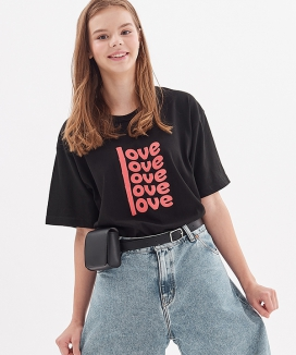[ATAR] lovelove half sleeve t-shirt