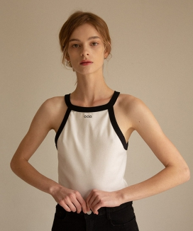 [OOD] LOGO HALTER NECK TOP