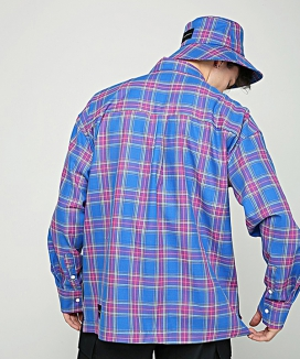 [AT THE MOMENT] Over-fit Daily Check Shirt