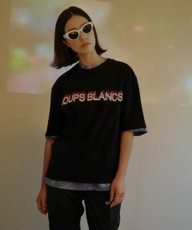 [LOUPS BLANCS] DUBLE LOGO T-SHIRT