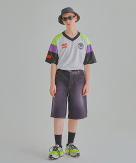 [ANOMIE COMPLEX] COLOR BLOCKING UNIFORM 1/2 TSHIRTS