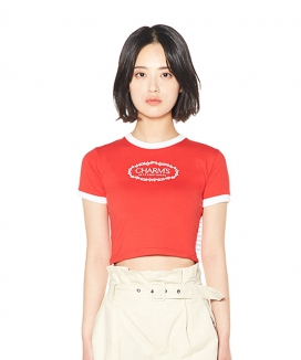 [CHARMS] CHARMS ROSE CIRCLE LOGO CROP T