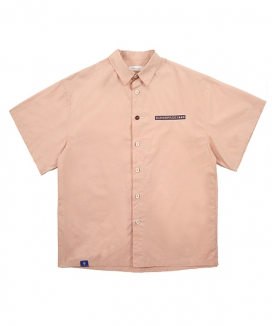 [COMSPACE1980] NAME TAG OVER-FIT SHIRT