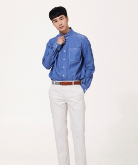 [COMSPACE1980] BUTTON DOWN POCKET POINT SHIRT
