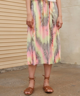 [1159STUDIO] MH10 MULTI DYEING SKIRT