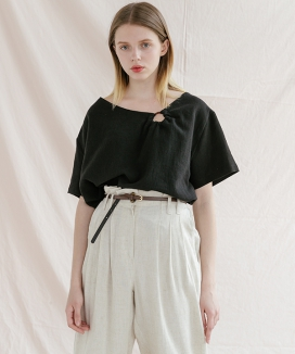[ADDSENSE] COIN RING BLOUSE