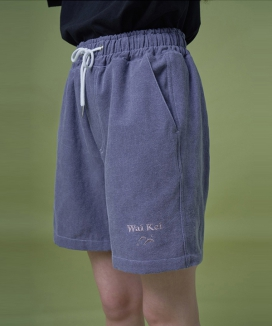 [WaiKei] Steady_Logo Embroidered Pigment Shortpants