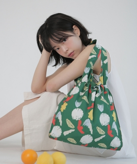 [textile area] STRING PICNIC BAG_ SESAME! PATTERN