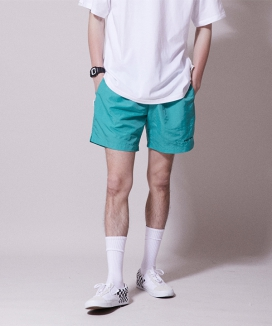 [URBANDTYPE] Wave Logo Swimming Shorts