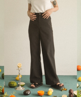 [oneninenineone] TENCEL WIDE PANTS