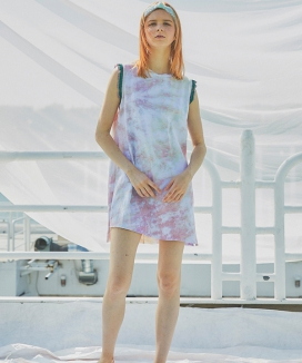 [Sorry, Too Much Love] Water Print Shibori Sleeveless Dress