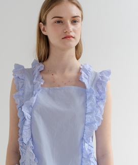 [ADDSENSE] LACE FRILL SLEEVELESS