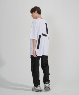 [ENOUGHIISENOUGH] Stick embroidery T-shirt