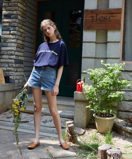 [LETTER FROM MOON] RETRO LOGO T-SHIRTS