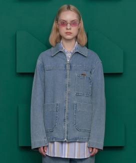 [UNALLOYED] POCKET DENIM JACKET