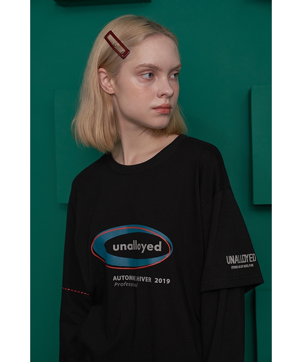 [UNALLOYED] LAYERED SLEEVE T SHIRT