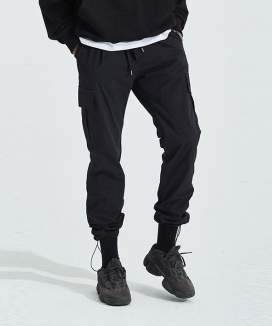 [AT THE MOMENT] String Cargo Jogger Pants