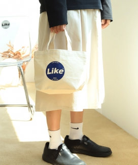 [UnLikeLook] LIKE LOGO ECO BAG - S