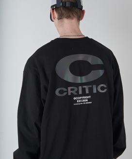 [CRITIC] REFLECTIVE  BIG C LOGO LONG SLEEVE T-SHIRT