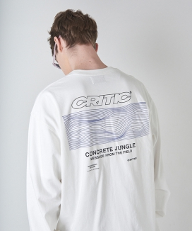 [CRITIC] WAVE GRAPHIC LONG SLEEVE T-SHIRT