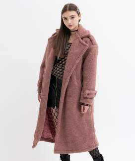 [B ABLE TWO] Oversized Teddy Coat